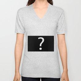 Question Mark Blackboard Unisex V-Neck