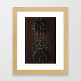 Cuban door knocker Framed Art Print