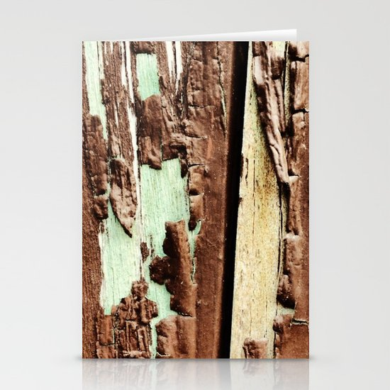 Brown Paint Peel Texture Stationery Cards