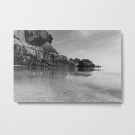 Solitude on Pedn Vounder Beach Metal Print