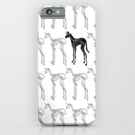 Skeleton Unicorn Pattern iPhone Case