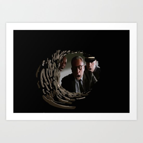 The most shocking event in the film history! Art Print