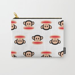 Julius Monkey Pattern by Paul Frank - White  Carry-All Pouch