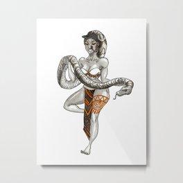 Dancing Naga Metal Print