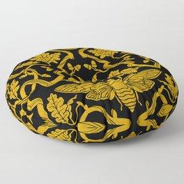 Cicada Oak Damask Floor Pillow