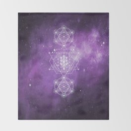 Sacred Geometry - We are Stardust Throw Blanket
