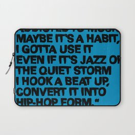 Just an addict, addicted to music... Laptop Sleeve