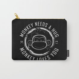 Black Mirror Monkey Carry-All Pouch