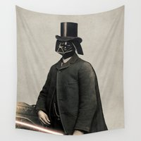 star lord Wall Tapestries featuring Lord Vadersworth by Terry Fan