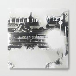 Death Drives Here Metal Print