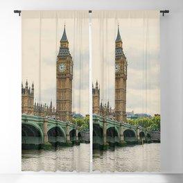 Big Ben Over Thames Blackout Curtain