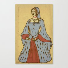 Queen of Heads on Parchment Canvas Print