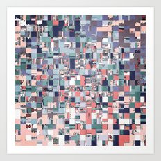 Colorful Abstract Geometric Mosaic Art Print