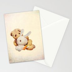 lovely teddy bear and bunny Stationery Cards