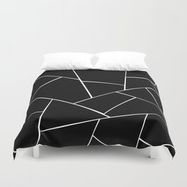 Black White Geometric Glam #2 #geo #decor #art #society6 Duvet Cover