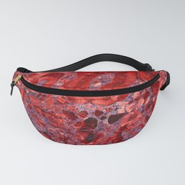 Marble Ruby Blood Red Agate Fanny Pack