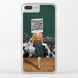 Scan my QR Code to add me Clear iPhone Case