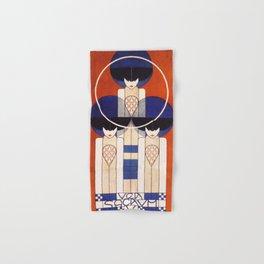 Art Nouveau Vintage Retro Poster by Koloman Moser Hand & Bath Towel