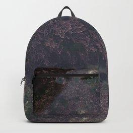Underwater Rock Pool with Purple Seaweed Backpack