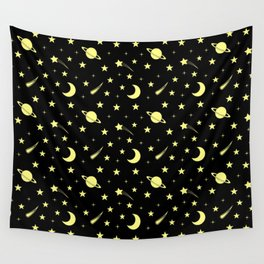 Starry Sky // Yellow Wall Tapestry