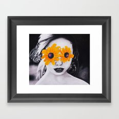 black-eyed susan Framed Art Print