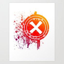 X vector Art Print