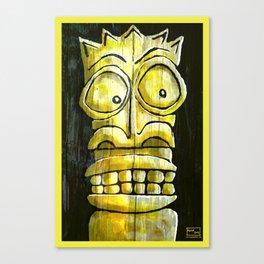 Yellow Tiki Canvas Print