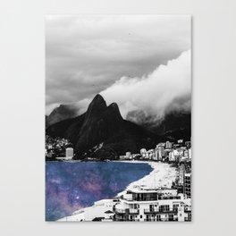 Ipanema's Cosmic Sea Canvas Print