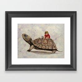 My Turtle Framed Art Print