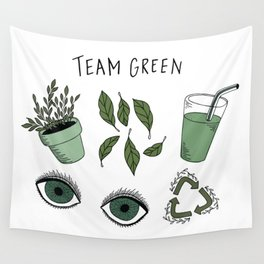 Team Green Wall Tapestry