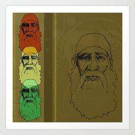 An Old Man and his Beard Art Print