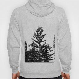 Black and white trees Hoody