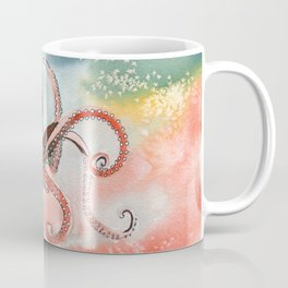 Octopus Watercolor Coffee Mug