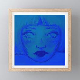 Always You Blue Framed Mini Art Print