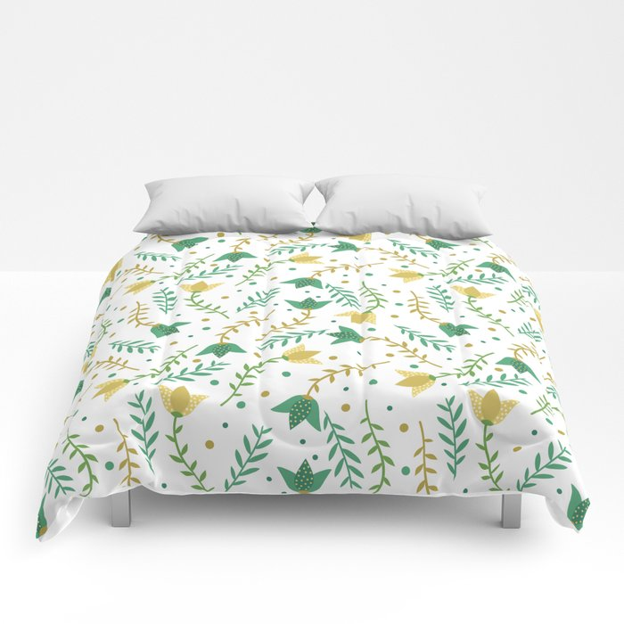 Floral white pattern  Comforters