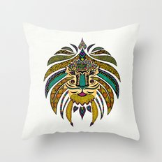 Emperor Tribal Lion Throw Pillow