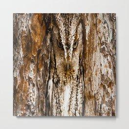 CAMOUFLAGE OWL Metal Print
