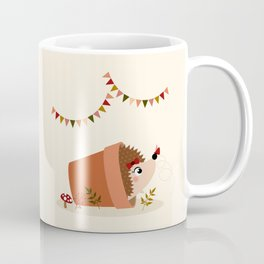 Hérisson et papillon Coffee Mug