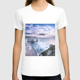 Natural Rock Arch -  ocean, coastal cliffs, waves, clouds, T-shirt