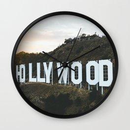 Hollywood Sign (Los Angeles, CA) Wall Clock