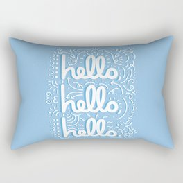 HELLO HELLO HELLO - light blue Rectangular Pillow