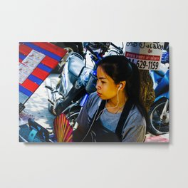 Woman in Bangkok Metal Print