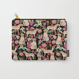 Labrador Retriever florals yellow lab cute pet gifts must have labrador florals Carry-All Pouch