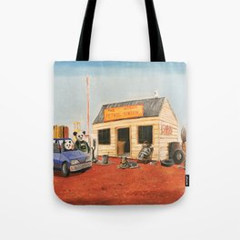 The Outback Petrol Station Tote Bag