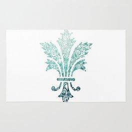 Fleur De Lis - French - Blue Rug