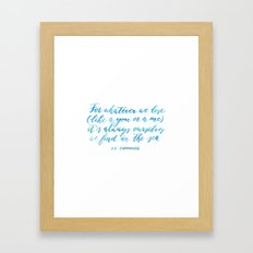 Find You in The Sea Framed Art Print