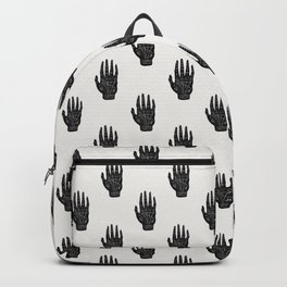 Palm Reading Chart - Black on White Backpack
