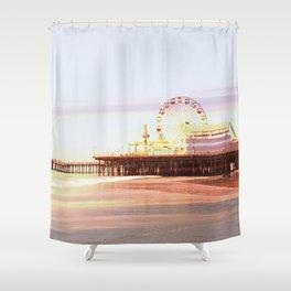 Santa Monica Pier Sunrise Shower Curtain