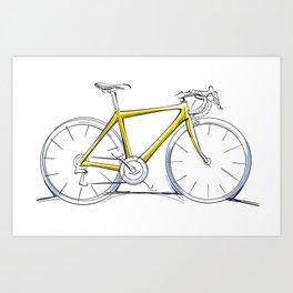 Racing Road Bike Art Print
