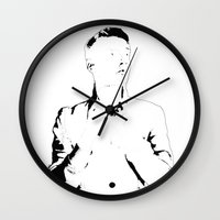 melissa smith Wall Clocks featuring Mr. Smith by Stanislav X Smith